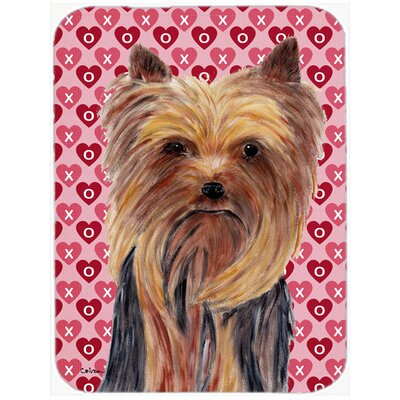 Valentine Hearts Yorkie Hearts Love and Valentine's Day Portrait Glass Cutting Board