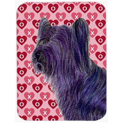 Valentine Hearts Skye Terrier Hearts Love and Valentine's Day Portrait Glass Cutting Board