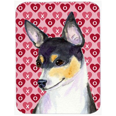 Valentine Hearts Chihuahua Hearts Love and Valentine's Day Portrait Glass Cutting Board