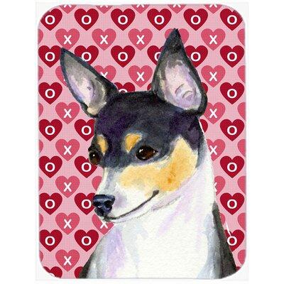 Valentine Hearts Chihuahua Hearts Love and Valentine's Day Portrait Glass Cutting Board