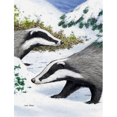 Badgers Look Here 2-Sided Garden Flag