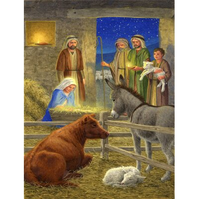 Nativity Scene Vertical Flag