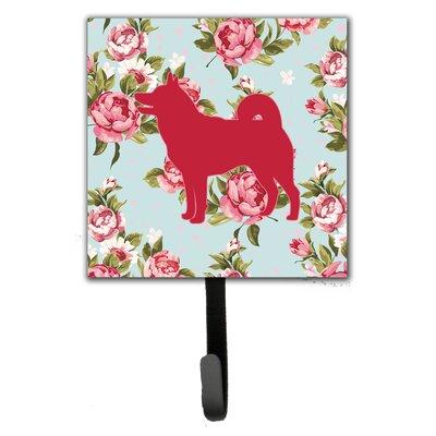 Shiba Inu Shabby Chic Blue Roses Leash or Key Holder BB1067