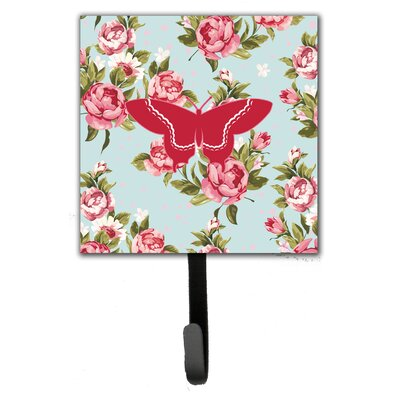 Butterfly Shabby Elegance Roses Wall Hook BB1030-RS-BU-SH4