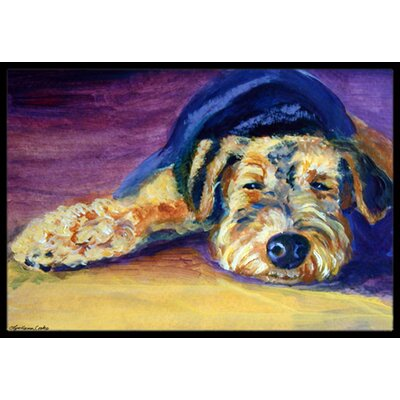Snoozer Airedale Terrier Doormat Mat Size: 2 x 3