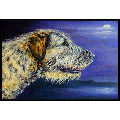 Irish Wolfhound Looking Doormat Mat Size: 16 x 23
