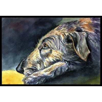 Irish Wolfhound Sleeper Doormat Rug Size: 16 x 23