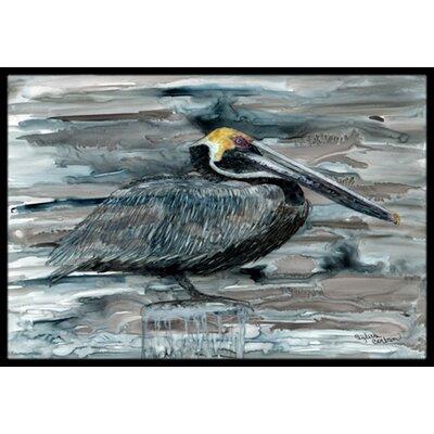 Pelican Doormat Rug Size: 16 x 23
