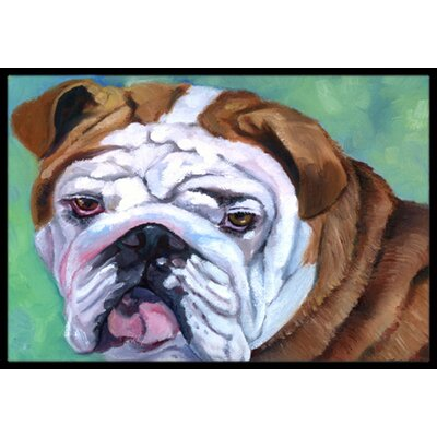 Admiral the English Bulldog Doormat Rug Size: 16 x 23