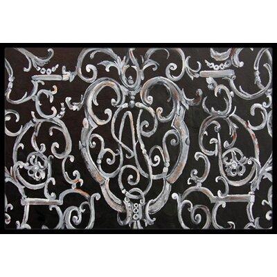 Ironwork Fence Doormat Rug Size: 16 x 23