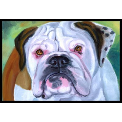 Miss English Bulldog Doormat Rug Size: 2 x 3
