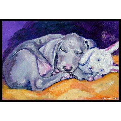 Weimaraner Snuggle Bunny Doormat Mat Size: 2 x 3