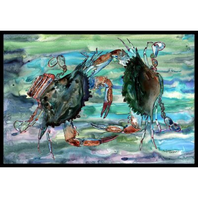 Watery Crabs Doormat Rug Size: 16 x 23