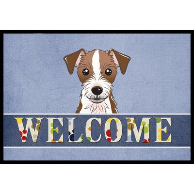 Jack Russell Terrier Welcome Doormat Mat Size: 2 x 3