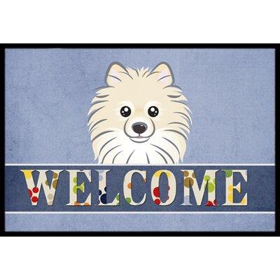 Pomeranian Welcome Doormat Rug Size: 16 x 23