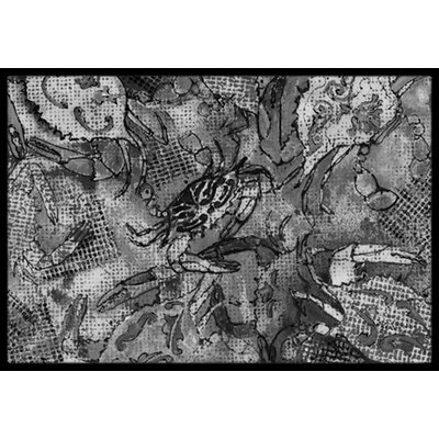 Canvas Abstract Crabs Doormat Mat Size: 16 x 23