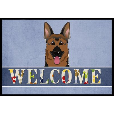 German Shepherd Welcome Doormat Rug Size: 2 x 3