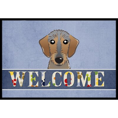 Wirehaired Dachshund Welcome Doormat Rug Size: 16 x 23