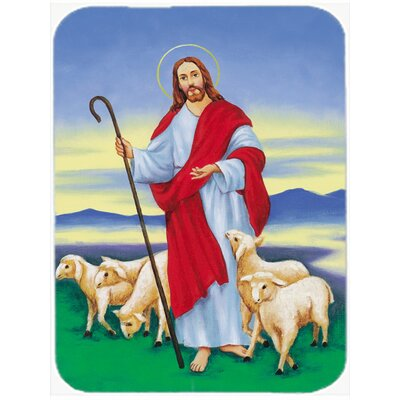 Jesus The Good Shepherd Glass Cutting Board
