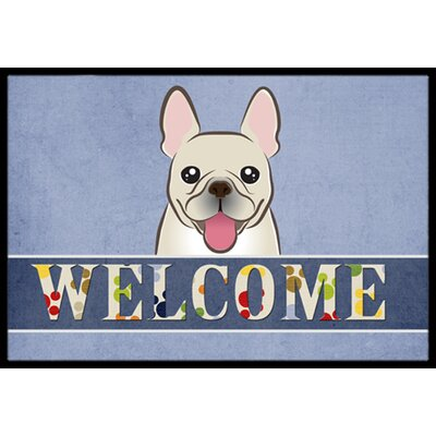 French Bulldog Welcome Doormat Mat Size: 2 x 3