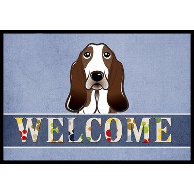 Basset Hound Welcome Doormat Rug Size: 16 x 23