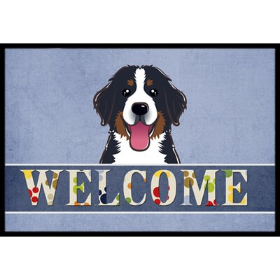 Bernese Mountain Dog Welcome Doormat Mat Size: 16 x 23