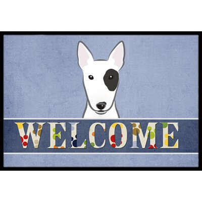 Bull Terrier Welcome Doormat Rug Size: 16 x 23