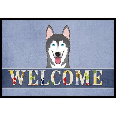 Alaskan Malamute Welcome Doormat Mat Size: 16 x 23