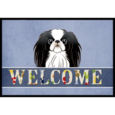 Japanese Chin Welcome Doormat Rug Size: 16 x 23