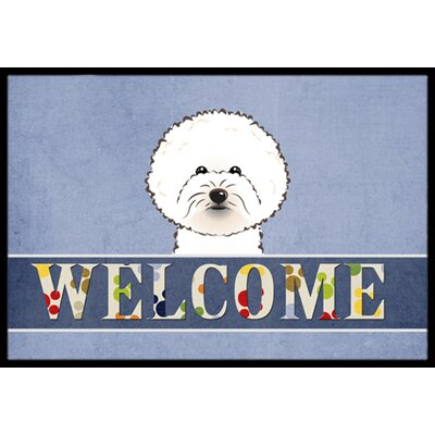 Bichon Frise Welcome Doormat Rug Size: 1'6