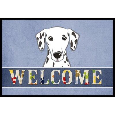 Dalmatian Welcome Doormat Rug Size: 2 x 3