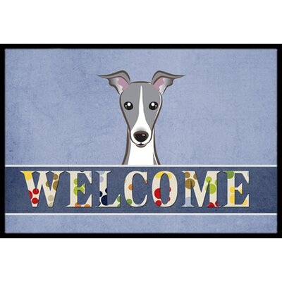 Italian Greyhound Welcome Doormat Rug Size: 16 x 23