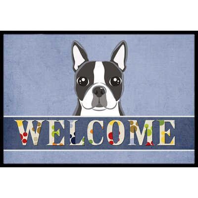 Boston Terrier Welcome Doormat Rug Size: 2 x 3