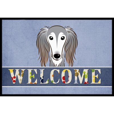 Saluki Welcome Doormat Rug Size: 16 x 23