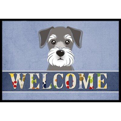 Schnauzer Welcome Doormat Rug Size: 16 x 23