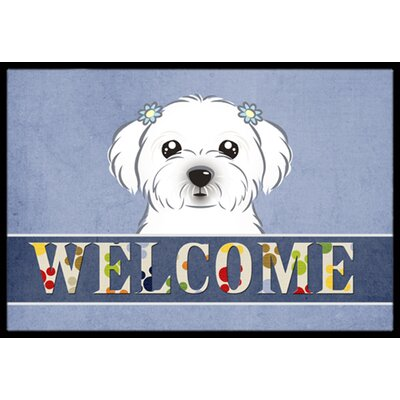 Maltese Welcome Doormat Rug Size: 16 x 23