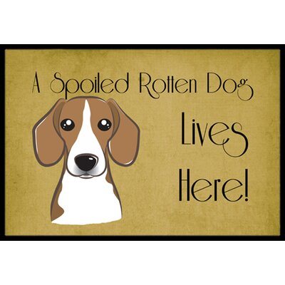 Beagle Spoiled Dog Lives Here Doormat Mat Size: 2 x 3