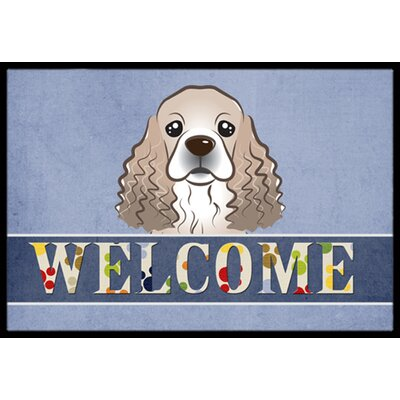 Cocker Spaniel Welcome Doormat Rug Size: 16 x 23
