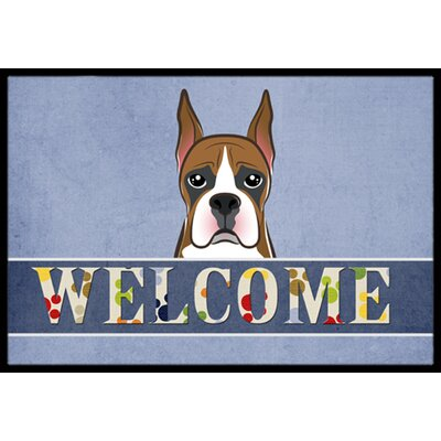 Boxer Welcome Doormat Mat Size: 16 x 23