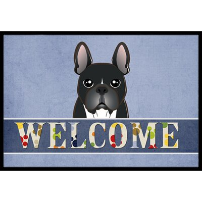 French Bulldog Welcome Doormat Rug Size: 2 x 3