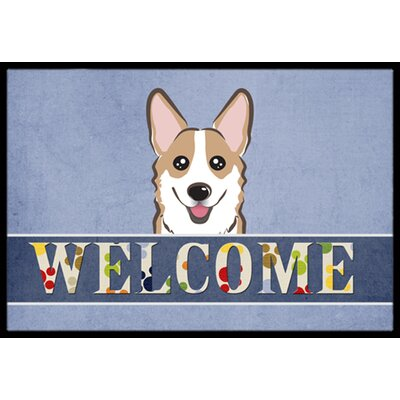 Corgi Welcome Doormat Rug Size: 2 x 3, Color: Sable