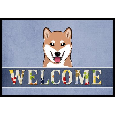Shiba Inu Welcome Doormat Rug Size: 2 x 3