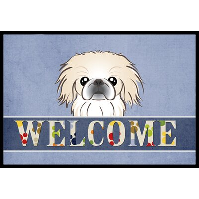 Pekingese Welcome Doormat Rug Size: 1'6