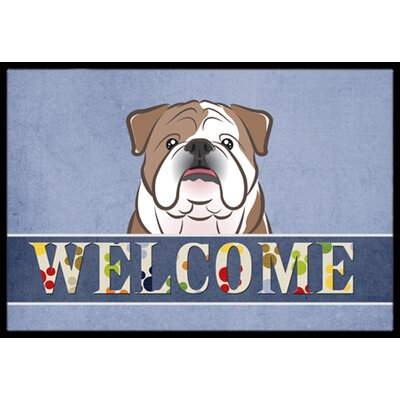 English Bulldog Welcome Doormat Color: Brown, Rug Size: 16 x 23