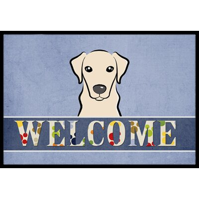 Yellow Labrador Welcome Doormat Rug Size: 16 x 23