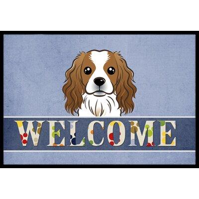 Cavalier Spaniel Welcome Doormat Rug Size: 16 x 23