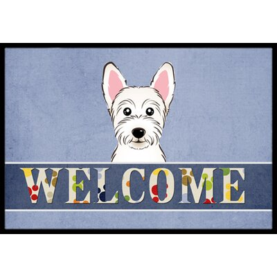 Westie Welcome Doormat Rug Size: 2' x 3'