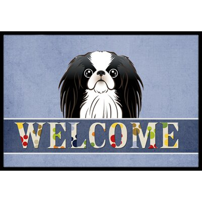 Japanese Chin Welcome Doormat Rug Size: 2 x 3