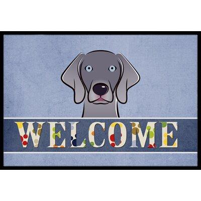 Weimaraner Welcome Doormat Rug Size: 16 x 23