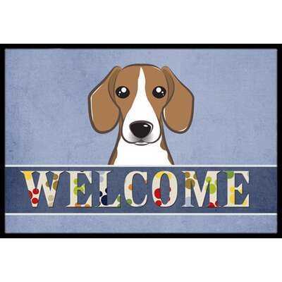 Beagle Welcome Doormat Rug Size: 2 x 3